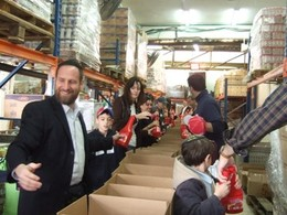 Food Boxes Packed by Visitors to Israel During Mid-Winter Break