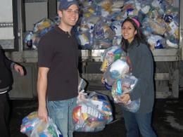 Volunteers flocked to the Yad Eliezer warehouse...