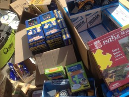 1400 high quality toys were sent to children who have spent days and nights in bomb shelters.