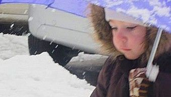 young girl in cold