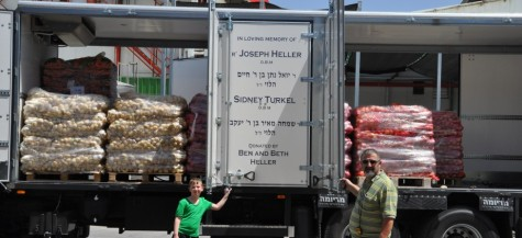 A new truck for Yad Eliezer