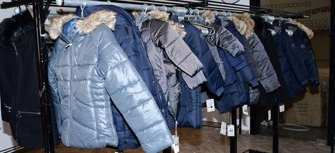 new winter coats on display